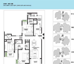Ireo Victory Valley Floor Plans 3 BHK + SQ | 2527 SQ.FT