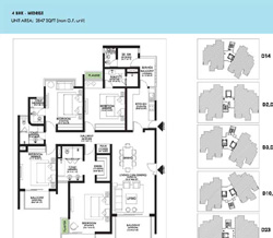 Ireo Victory Valley Floor Plans 4 BHK + SQ | 2847 SQ.FT