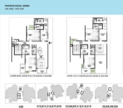 Ireo Victory Valley Floor Plans 4 BHK + 2 SQ | Penthouse (Duplex)