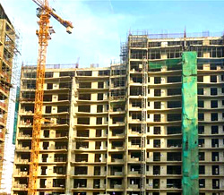 Ireo Skyon Sector-60, Gurugram (Gurgaon), Top floor slab in progress